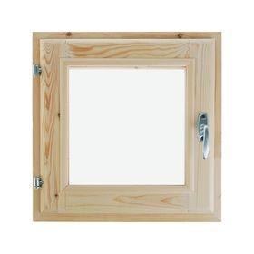 Окно, 40×40см, двойное стекло, с уплотнителем, из хвои Ош