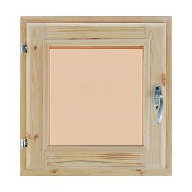 Окно, 40×40см, двойное стекло, тонированное, с уплотнителем, из хвои Ош
