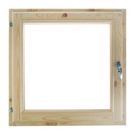 Окно, 50×50см, двойное стекло, с уплотнителем, из хвои Ош