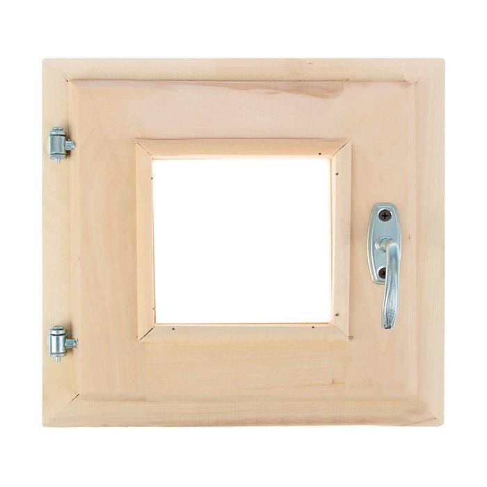 Окно, 30×30см, двойное стекло, с уплотнителем, из липы