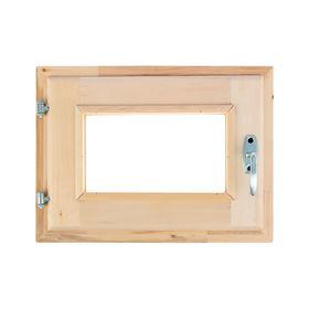 Окно, 30×40см, двойное стекло, с уплотнителем, из липы Ош