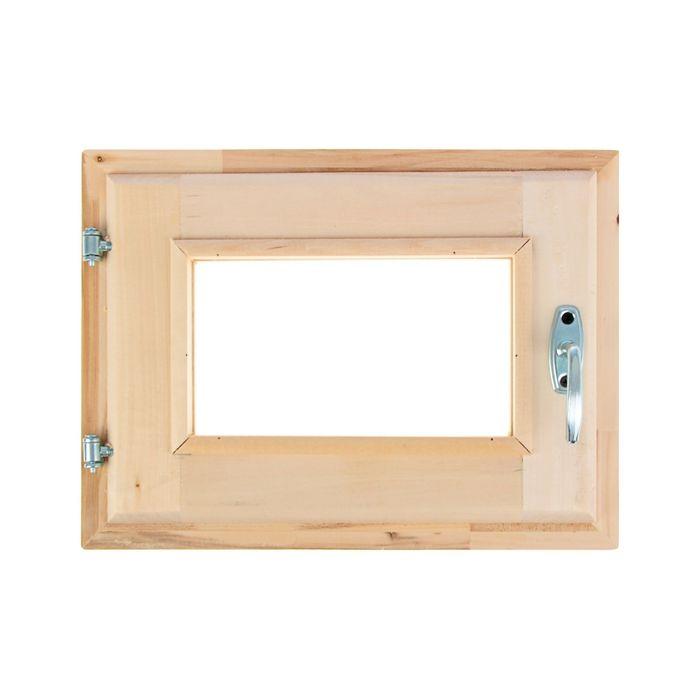 Окно, 30×40см, двойное стекло, с уплотнителем, из липы