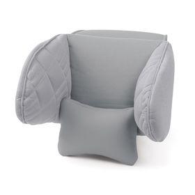 Подголовник Comfort, экокожа, 3D полиэстер, тёмно серый (COM-0250HR) Ош