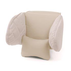 Подголовник Comfort, экокожа, 3D полиэстер, светло бежевый (COM-0250HR) Ош