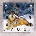 """Часы настенные, серия: Животный мир, """"Волк"""", 25х25  см, микс"""