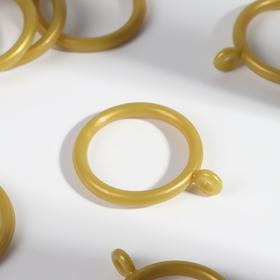 Кольцо для карниза, d = 30/39 мм, 10 шт, цвет золотой Ош