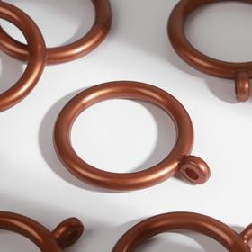 Кольцо для карниза, d = 35/46 мм, 10 шт, цвет бронзовый Ош