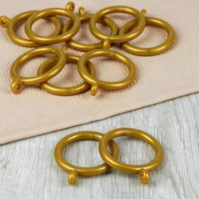 Кольцо для карниза, d = 35/46 мм, 10 шт, цвет золотой Ош