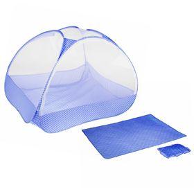 Манеж-палатка для ребёнка, москитная сетка на молнии, подушка и матрасик в комплекте, цвет голубой Ош