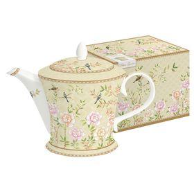 """Чайник """"Дворцовый парк"""", бежевый, в подарочной упаковке"""