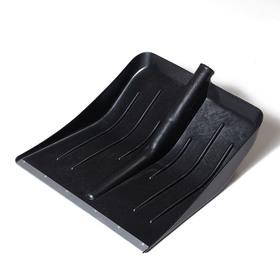 Ковш лопаты пластиковый, 428 × 450 мм, с оцинкованной планкой, тулейка 32 мм, «Тульская»