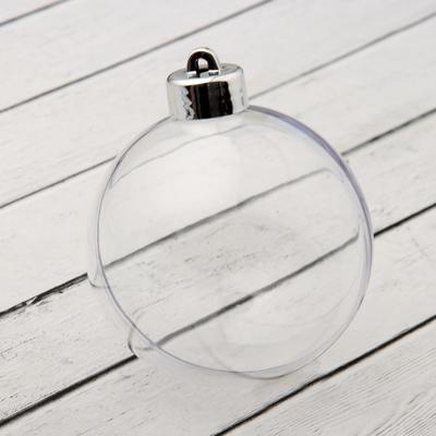 Заготовка-подвеска «Шар со съёмной пуцкой», раздельные части, диаметр в собранном виде: 8 см - Фото 1