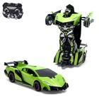 Робот-трансформер радиоуправляемый Lamborghini Veneno, работает от аккумулятора, цвет зелёный