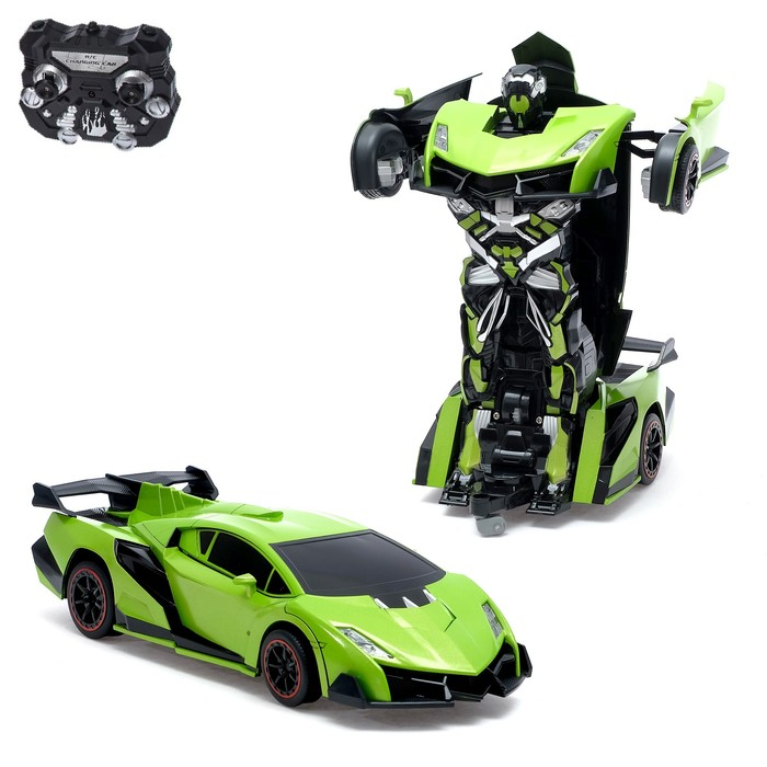Робот-трансформер радиоуправляемый «Ламба Авентадор», световые и звуковые эффекты, работает от аккумулятора, цвета МИКС