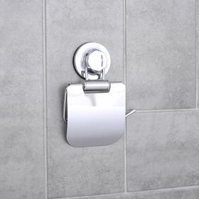Держатель для туалетной бумаги на вакуумной присоске Accoona A11405, цвет хром