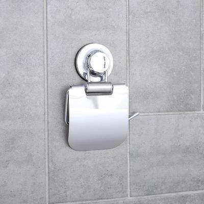 Держатель для туалетной бумаги на вакуумной присоске Accoona A11405, цвет хром - Фото 1