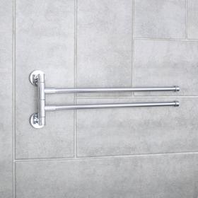 Держатель для полотенец с двумя поворотными панелями Accoona A121-2, цвет хром