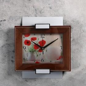 Часы настенные, серия: Классика, 'Grance', цвет венге, серебро маки Ош