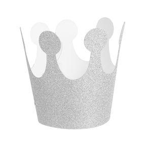 Карнавальная корона «Великолепие», на резинке, цвет серебряный Ош