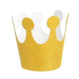 Карнавальная корона «Великолепие», на резинке, цвет золотой Ош