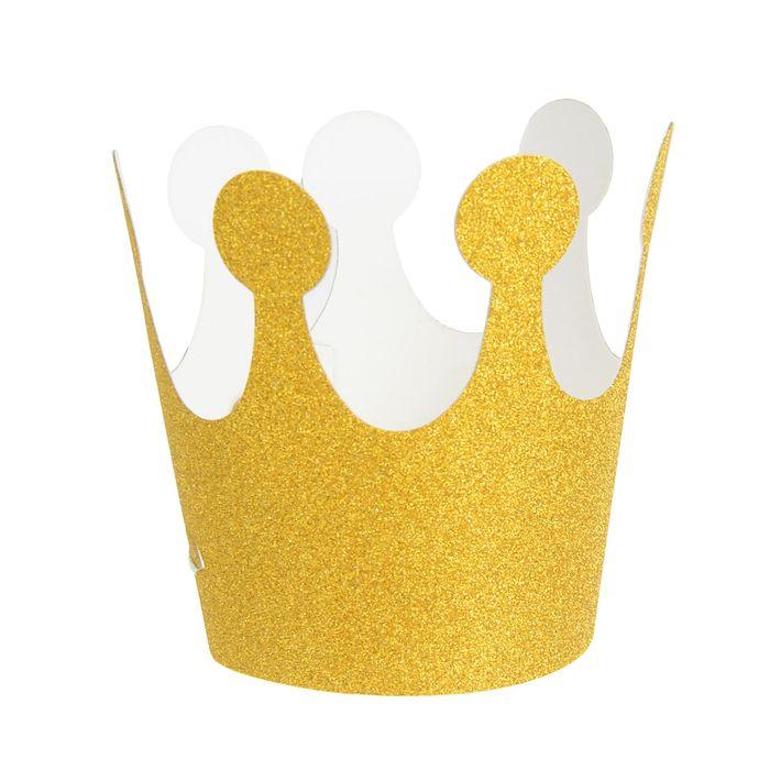 Карнавальная корона Великолепие, на резинке, цвет золотой