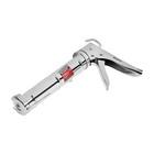 Пистолет для герметика MATRIX, 310 мл, полуоткрытый, зубчатый шток 7 мм, хромированный