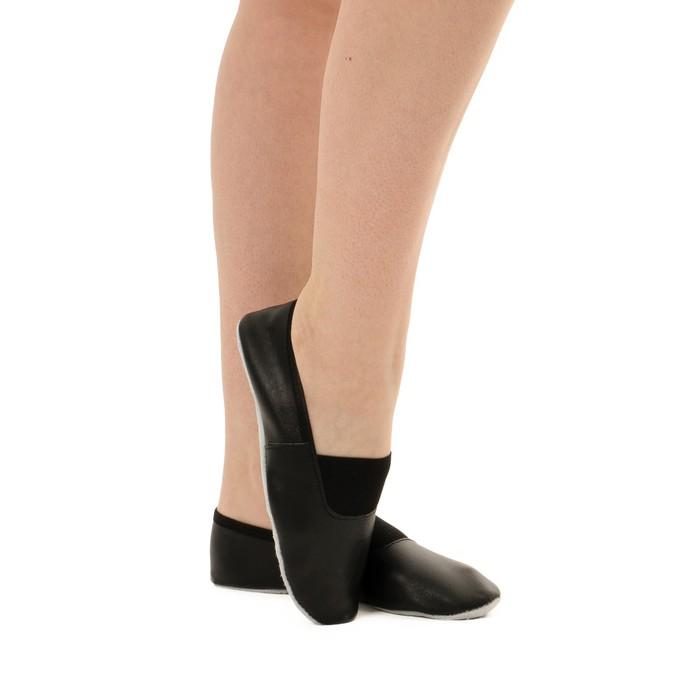 Чешки комбинированные, цвет чёрный, размер 135 длина стопы 15,8 см