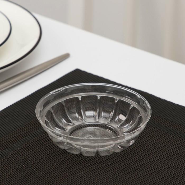 Контейнер «Креманка» М-201, 9,5×6 см, круглая, прозрачная, дно, 1300 шт/уп.