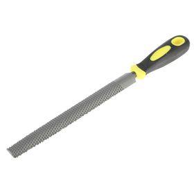 Рашпиль FIT, прорезиненная ручка, полукруглый, 200 мм Ош