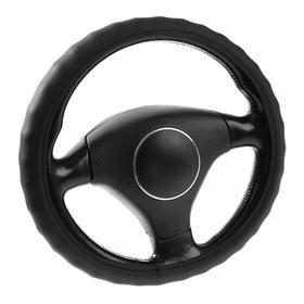 Оплётка на руль Lavita, размер L, кожаная, черная
