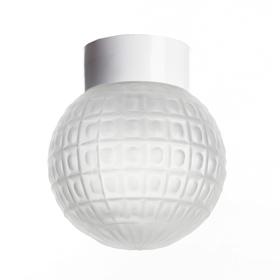 Светильник настенно-потолочный 'Гранат' прямой 1 лампа Е27 60W матовый,белый 15х15 Ош