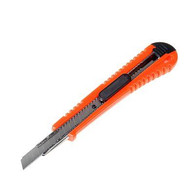 Нож универсальный LOM, пластиковый корпус, металлическая направляющая, 9 мм