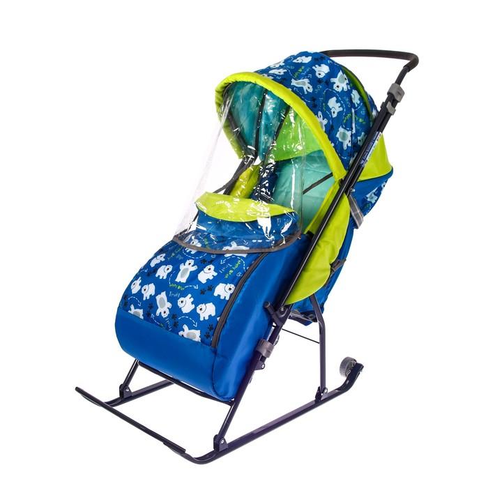 Санки- коляска «Умка 3. Мишки», цвет: синий