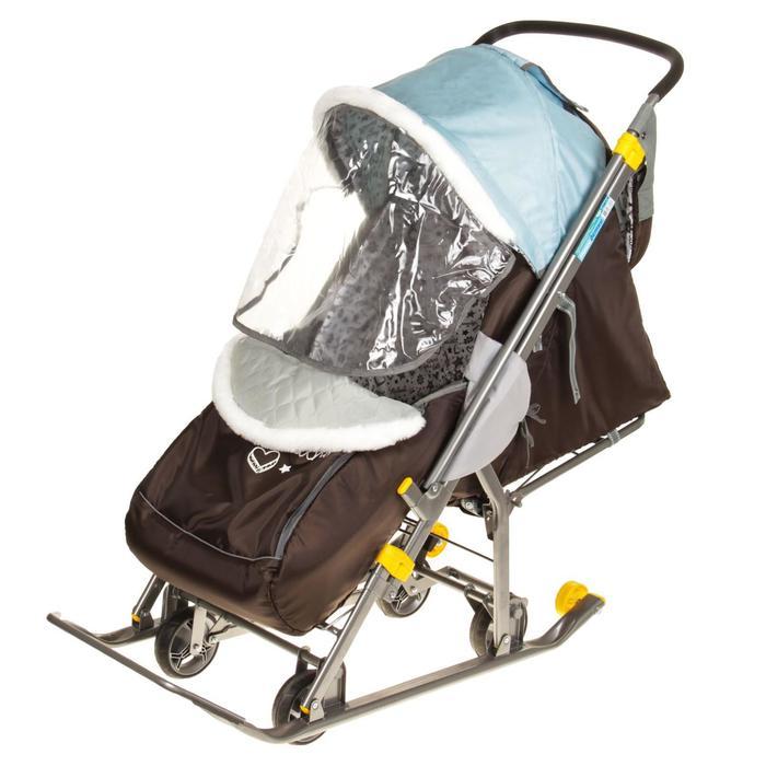 Санки-коляска «Наши детки», цвет голубой