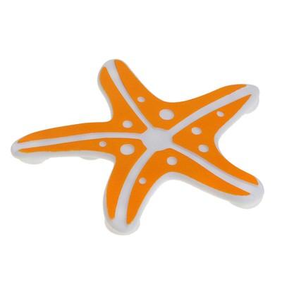 Набор мини-ковриков для ванны Доляна «Морская звезда», 10×10 см, 5 шт, цвет МИКС - Фото 1