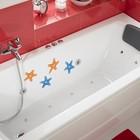 Набор мини-ковриков для ванны Доляна «Морская звезда», 10×10 см, 5 шт, цвет МИКС - Фото 2