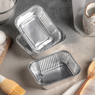Набор форм для выпечки из фольги, 250 мл, 3 шт, цвет серебристый - Фото 1