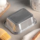 Набор форм для выпечки из фольги, 250 мл, 3 шт, цвет серебристый - Фото 3