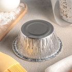 Набор форм для выпечки из фольги «Маффин», 130 мл, 6 шт, цвет серебристый - Фото 3