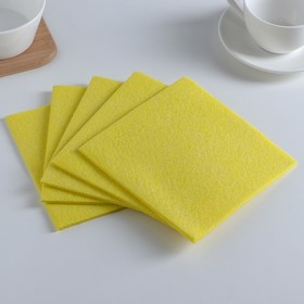 Набор салфеток для уборки 30×30 см, вискоза, 5 шт, цвет МИКС