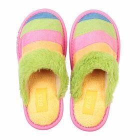 Тапочки детские, размер 35, цвет зелёный/розовый (арт. 368-26/16) Ош