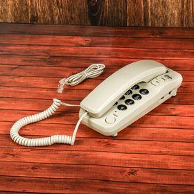 Проводной телефон Ritmix RT-100, настольно-настенный, Hi-Low, свет. индикацией, слон.кость Ош