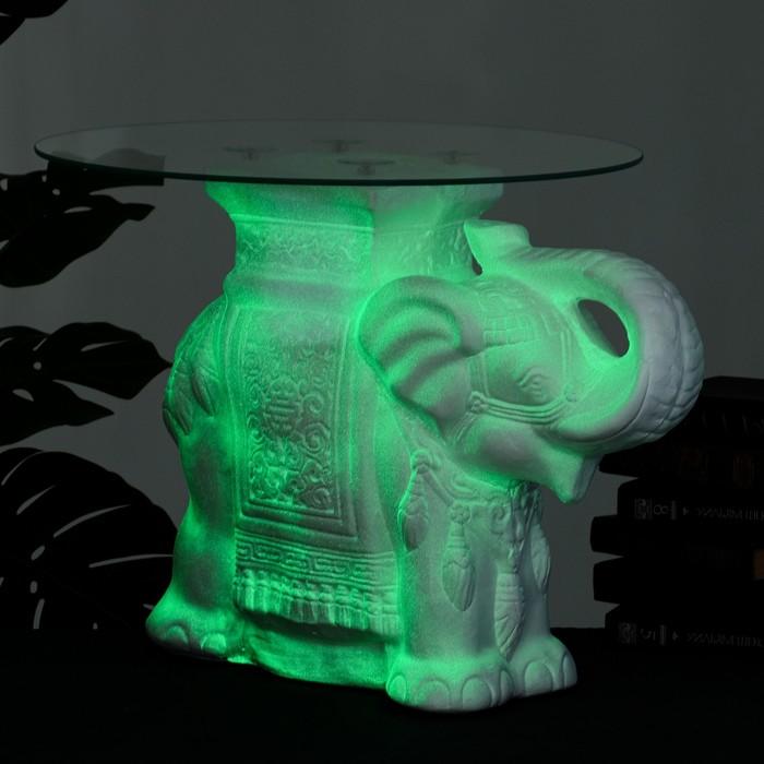 купить Подставка - стол светящийся Слон 58х28х50см