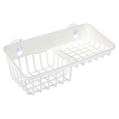 Подставка для губки и мыла на присосках, цвет белый - Фото 1