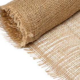Джут натуральный, 0,95 × 5 м, плотность 190 г/м², плетение 34/24 Ош