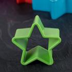 Набор форм для печенья Доляна «Звезда», 5 шт, цвет МИКС - Фото 3