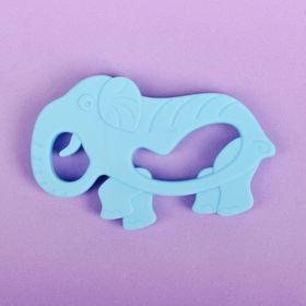 Прорезыватель силиконовый « Слон», цвет голубой