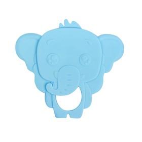 Прорезыватель силиконовый «Слоник», цвет голубой