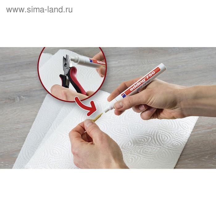 Маркер-краска (лаковый) 4.0 мм EDDING E-750/49 металлический корпус, белый