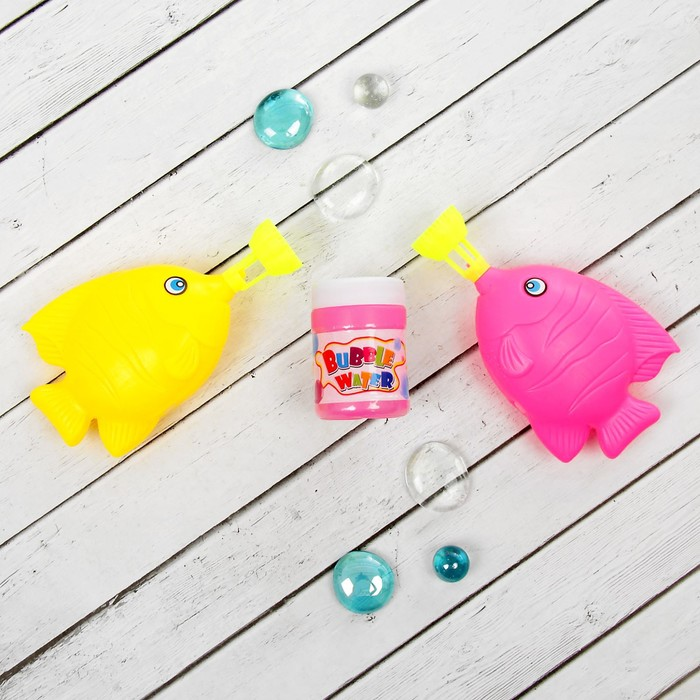 """Мыльные пузыри """"Цветные рыбки"""", (набор 2 шт)"""